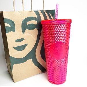 STARBUCKS Neon Pink Studded Venti Straw Tumbler